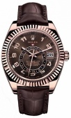 Rolex Sky-Dweller 42mm Everose Gold 326135 Chocolate