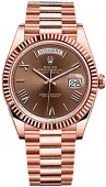 Rolex Day-Date 40 mm Everose Gold 228235 brown