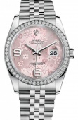 Rolex Datejust 36mm Steel and White Gold 116244 Pink Floral