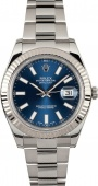 Rolex Datejust 41 mm Steel and White Gold 116334 Blue