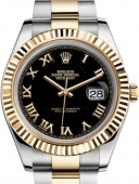 Rolex Datejust II 41 mm Steel and Yellow Gold 116333 Black