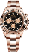 Rolex Daytona Cosmograph 40mm Everose Gold 116505 Black