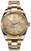 Rolex Sky-Dweller 42mm Yellow Gold 326938 Chamapgne
