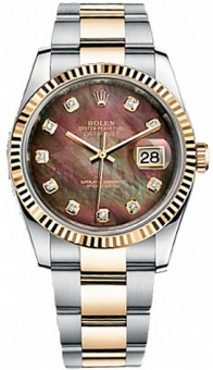Rolex Datejust 36 mm Steel and Yellow Gold 116233 Oyster bracelet