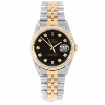 Rolex Datejust 36 mm Steel and Yellow Gold 16233 black dial