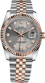 Rolex Datejust 36 mm Steel and Everose Gold 116231-0100