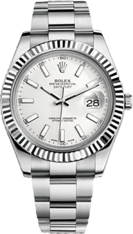 Rolex Datejust 41 mm Steel and White Gold 116334-0006