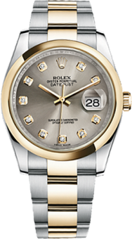 Rolex Datejust 36 mm Steel and Yellow Gold 116203-0138