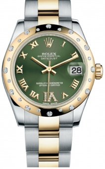 Rolex DateJust Lady 31mm Steel/Yellow Gold Green 178343