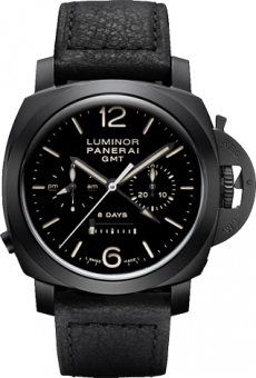 PANERAI LUMINOR 1950 CHRONO MONOPULSANTE 8 DAYS GMT CERAMICA PAM00317