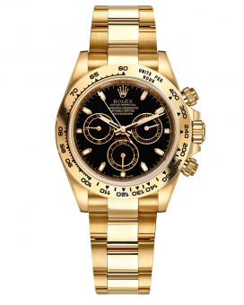 Rolex Daytona Cosmograph Daytona 40mm Yellow Gold 116528-Black