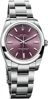 Rolex Datejust 34 mm Steel 114200 purple