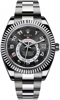 Rolex Sky-Dweller 42mm White Gold 326939 black