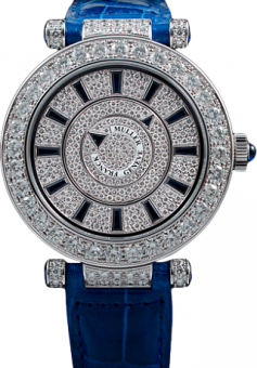 Franck Muller Double Mystery Ronde 42 DM D2R CD Blue Croco