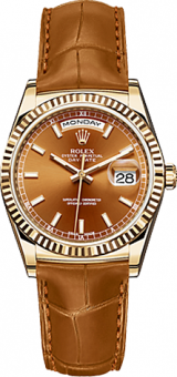 Rolex Day-Date 36 mm Cognac 118138