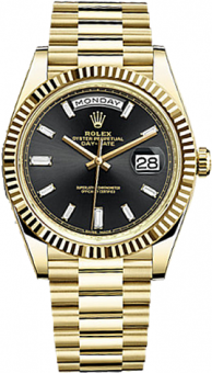 Rolex Day-Date 40 mm Yellow Gold 228238 black diamonds