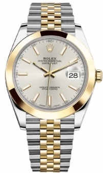 Rolex Datejust 41mm Steel and Yellow Gold 126303 Silver Index Jubilee