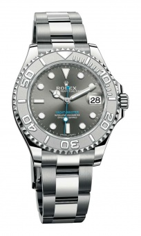 Rolex Yacht-Master 37 mm Steel and Platinum Dark Rhodium 268622-0002