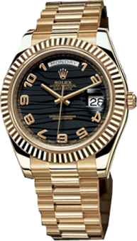 Rolex Day-Date 41 mm Yellow Gold 218238 Black