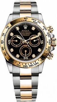 Rolex Daytona Steel and yellow gold 116503 Diamonds
