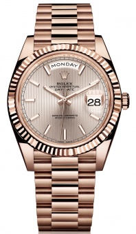Rolex Day-Date 40 mm Everose Gold 228235 silver