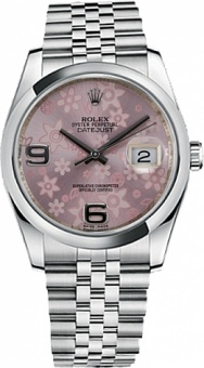Rolex Datejust Pink Floral Jubile 116234